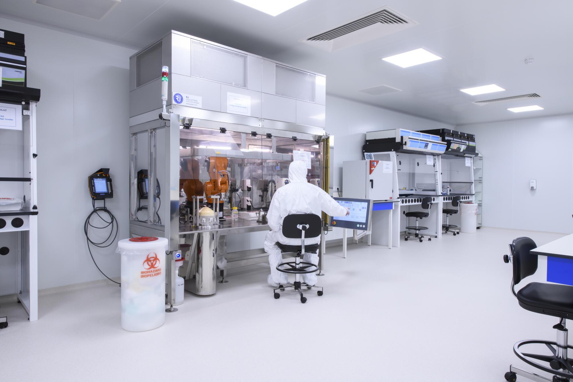 Salle blanche pour les biotechs