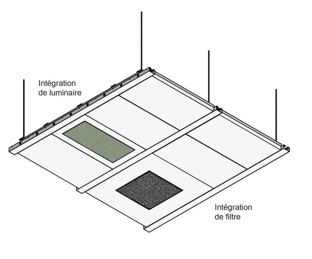 Plafond bi-bloc Dagard