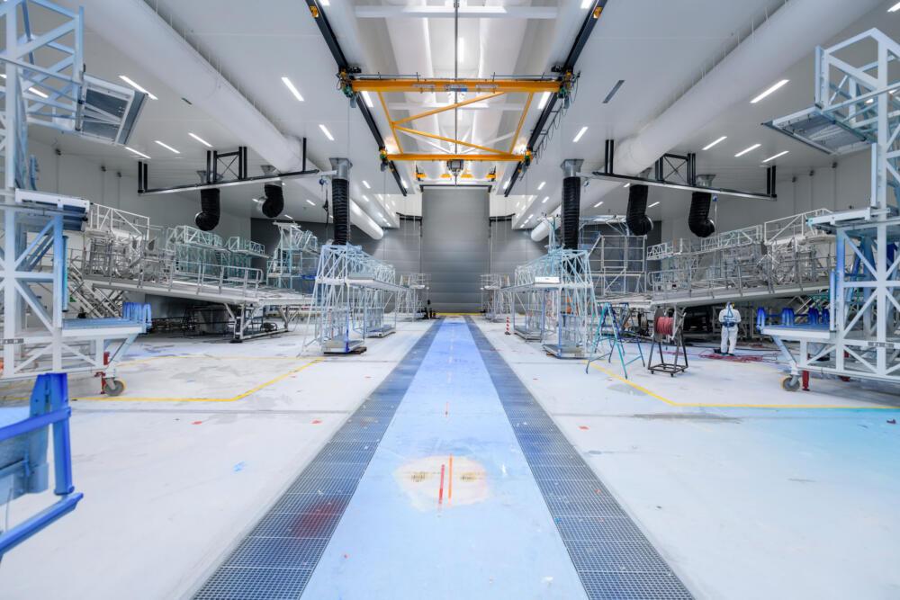 Salle de peinture grande échelle pour avions