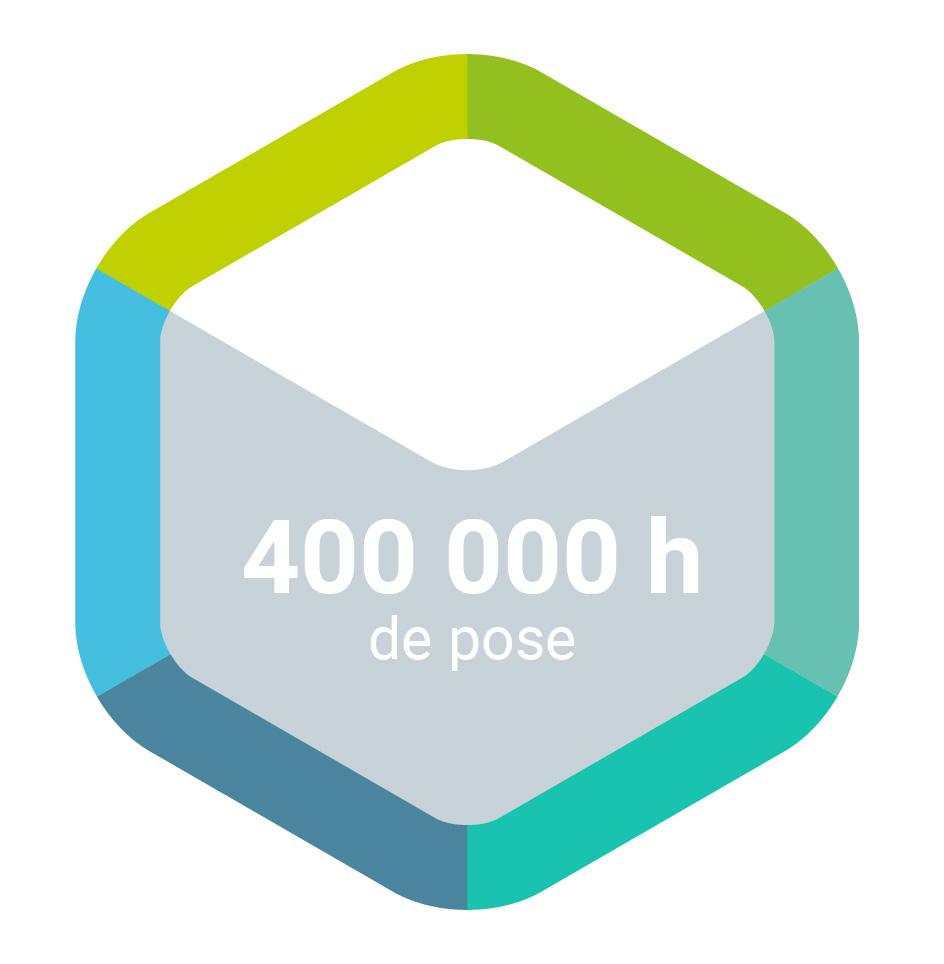 400 000h de pose pour le fabricant de salle blanche