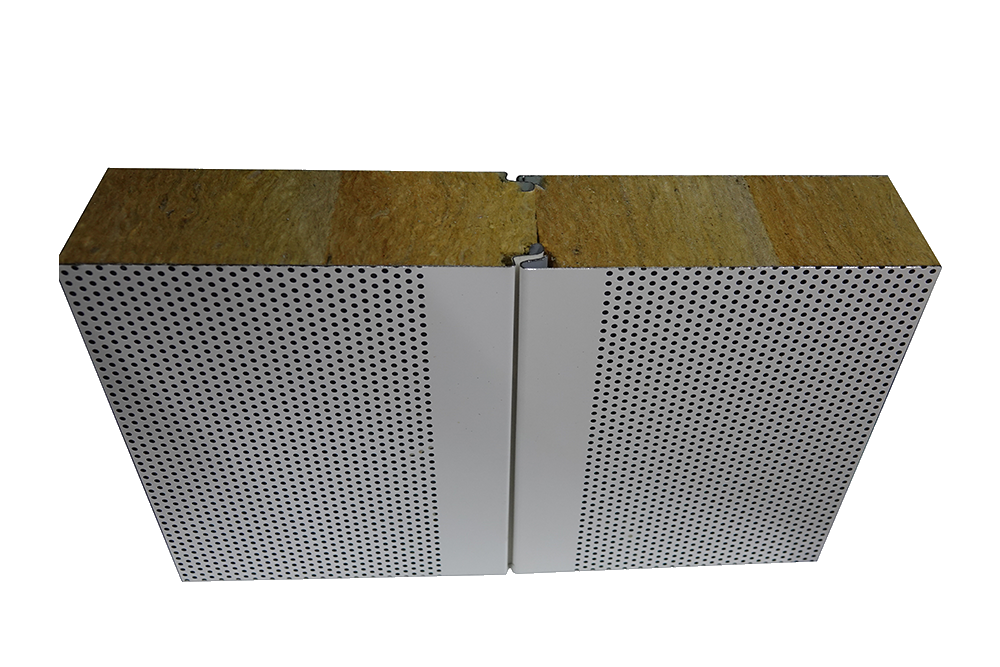 Acoustic panels for acoustic insulation in clean rooms