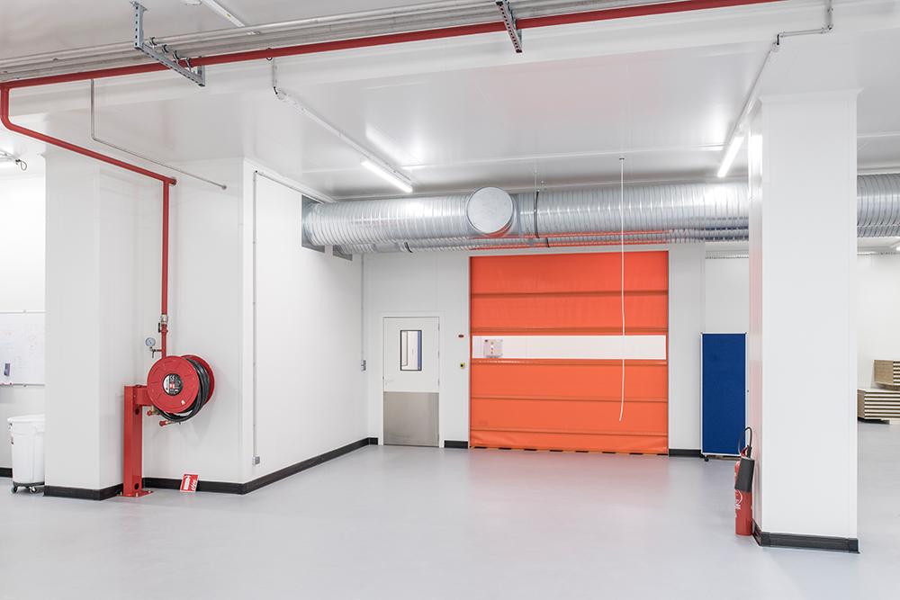 View of the Dagard industrial door