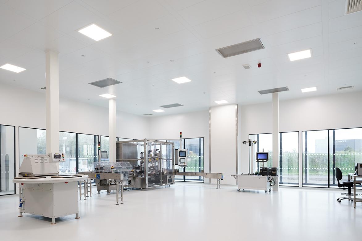 Sala limpia para el sector farmacéutico