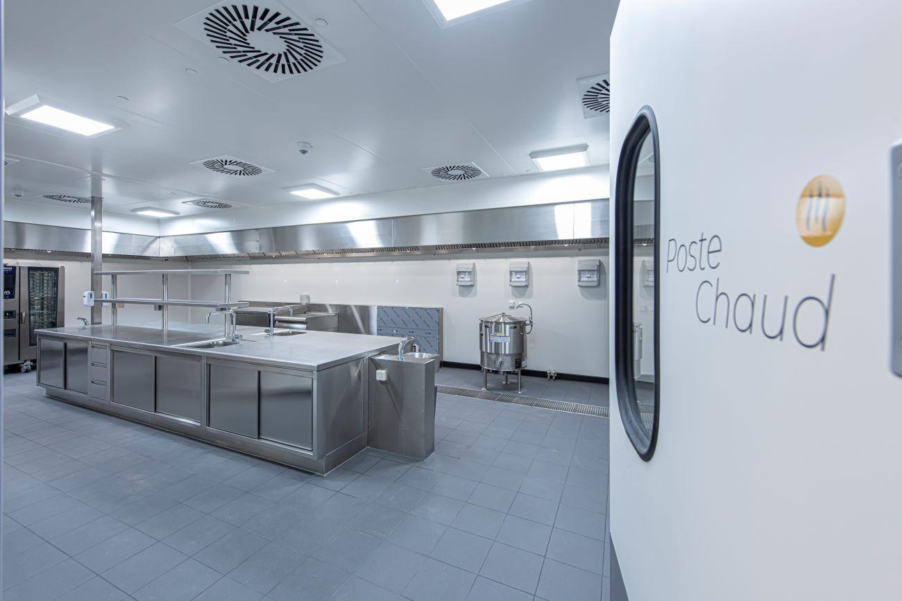 Enceinte isotherme de cuisine centrale réalisée par Dagard