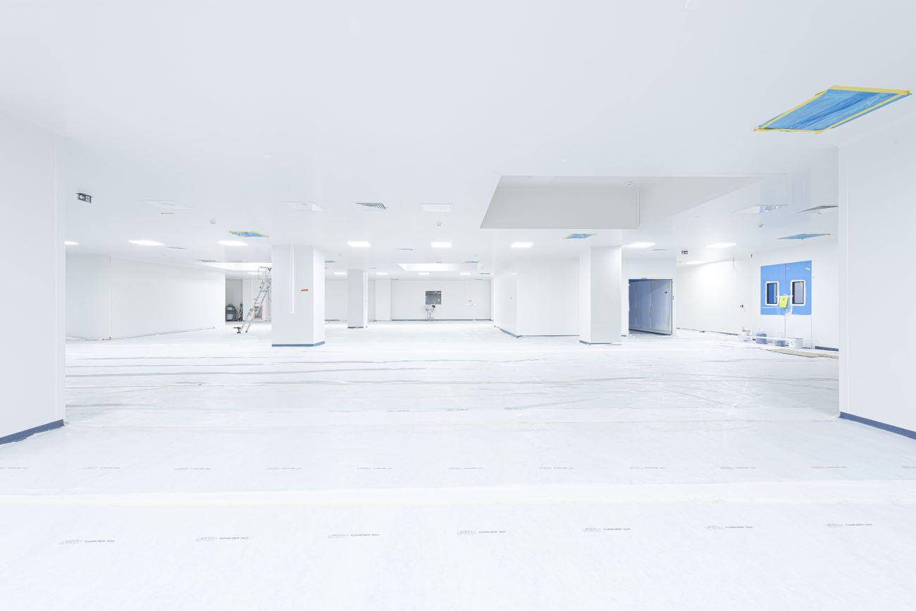Salle blanche pour le LFB